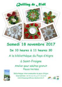 Atelier Quilling @ Bibliothèque | Saint-Fraigne | Nouvelle-Aquitaine | France